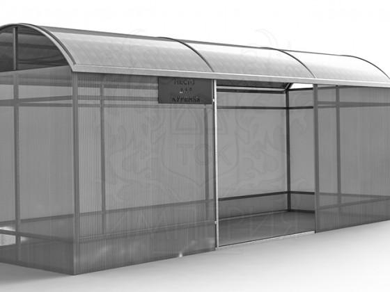 Павильон для курения из бесцветного сотового поликарбоната