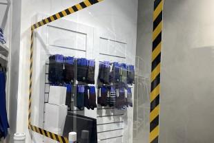 """Экран-завеса для кассира (подвесной) 1000*1250 мм """"WOW SHIELD"""""""