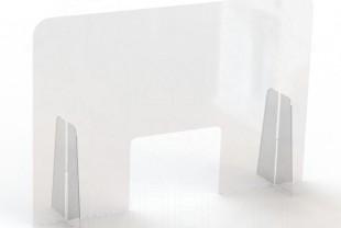 """Экран защитный для салонов красоты 900*600 мм (с окном 220*300) """"WOW SHIELD"""""""
