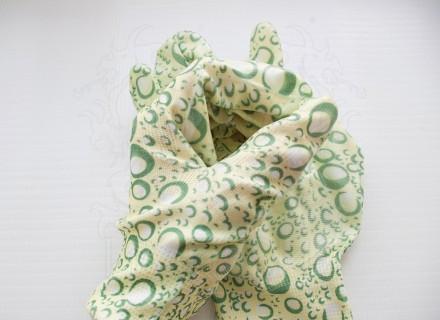 Перчатки нейлоновые Садовые (желто-зеленые)