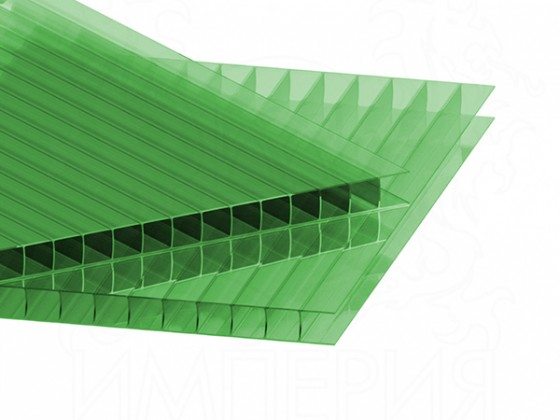 Сотовый поликарбонат IRROX 4 мм, зеленый