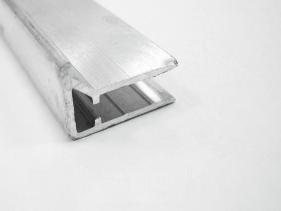 Профиль торцевой алюминиевый F6 мм.