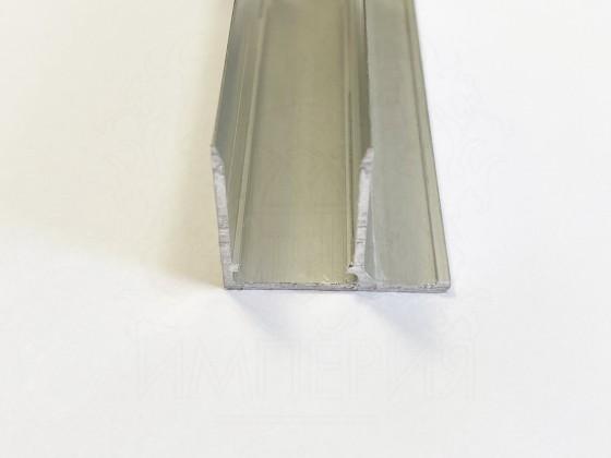 Профиль торцевой алюминиевый F16 мм.