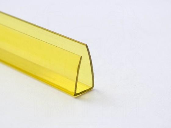 Профиль торцевой П10, желтый