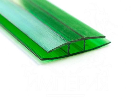 Профиль соединительный неразъемный НР 6мм, зеленый