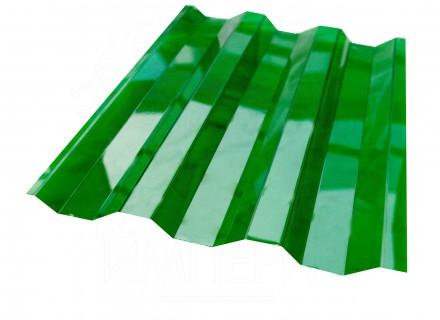 Профилированный поликарбонат Borrex зеленый прозрачный 0.8 мм