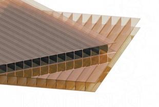 Сотовый поликарбонат IRROX толщина 10 мм, бронза йод
