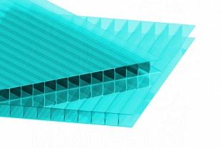 Сотовый поликарбонат IRROX толщина 4 мм, бирюза