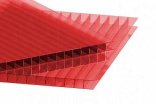 Сотовый поликарбонат IRROX толщина 4 мм, красный