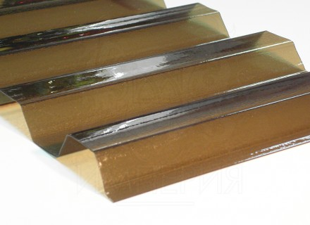 Профилированный поликарбонат Borrex бронза йод 0.8 мм
