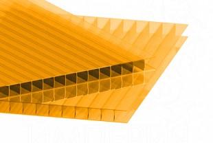 Сотовый поликарбонат IRROX толщина 4 мм, оранжевый