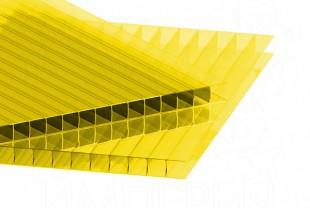 Сотовый поликарбонат IRROX толщина 4 мм, желтый