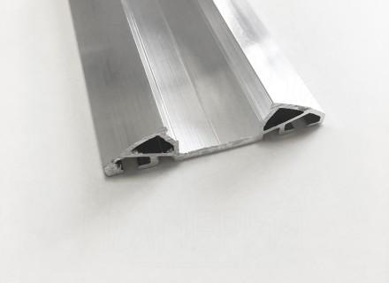 Планка Al-Imper прижимная алюминиевая верхняя 50 мм (без декора) PV.50.d
