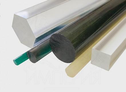 Круглый стержень из литьевого оргстекла (50 мм, б/цв)