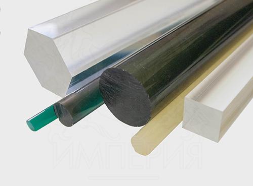 Круглый стержень из литьевого оргстекла (60 мм, б/цв)