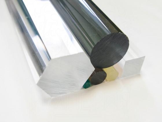 Круглый стержень из литьевого оргстекла (70 мм, б/цв)
