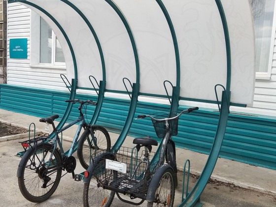 Велопарковка 45 градусов без навеса
